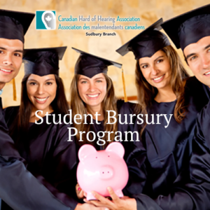 Group of post secondary graduates holding a piggy bank